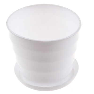 Plastic Round Flower Plant Pot Planter Holder White F6