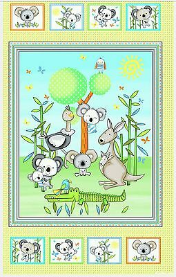 Koala Party Quilt Panel * Aussie Babies * In Stock * Free Post