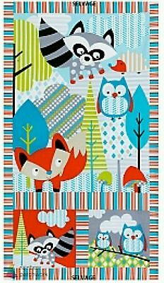 Woodlot Quilt Panel...multi Colour...in Stock...free Post