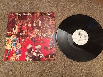 """BAND AID - DO THEY KNOW IT'S CHRISTMAS? 12"""" vinyl single record (FEED 112) Ex"""