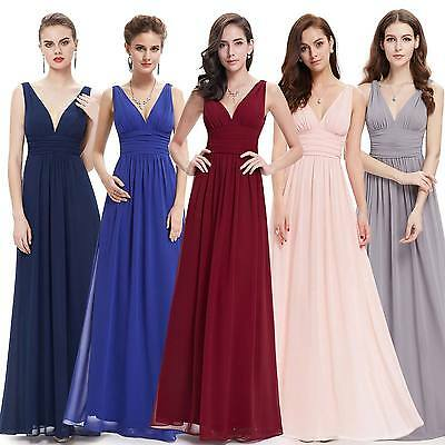 Long Chiffon Bridesmaid Dresses Formal Christmas Ball Gown Ever Pretty 09016