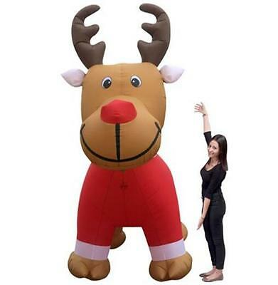 150x240x300cm Christmas Inflatable Reindeer with Shirt  Air-Power Built-in Fan