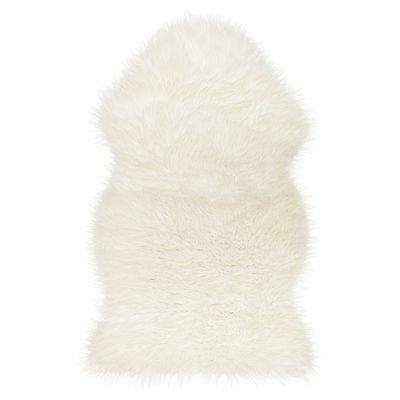 Ikea TEJN White | Luxury Supersoft Cosy Faux Fur Rug Throw | Bedroom Lounge