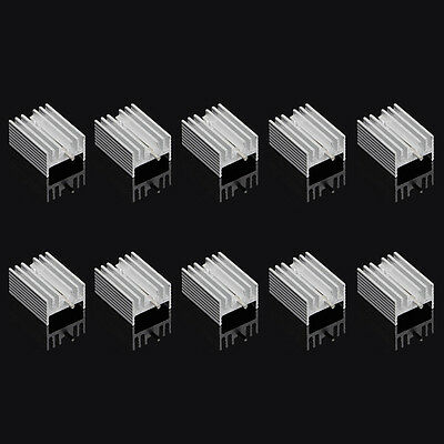 10Pcs TO-220 Aluminum Heatsink Transistor Radiator Heatsink Cooler Cooling 21MM