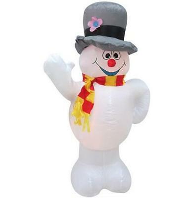 2.4m Christmas Inflatable Snowman Air-Power Built-in Fan Indoors or Outdoors