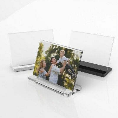 Modern Acrylic Photo Frame / Freestanding Polished Picture Frame 6x4 7x5 8x6