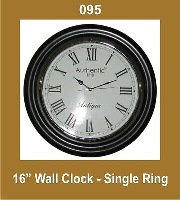 Brand New Wall Clock 16'' Single Ring Nautical Roman Number Spares2U