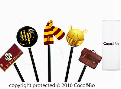 Coco&Bo 10 x Magical Wizarding Cupcake Picks Harry Potter Theme Party Decoration