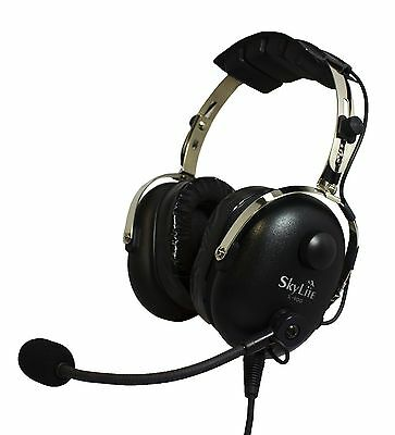 SL-900 SkyLite Pilot Aviation Headset w/ GEL GA Dual Plug Free with Headset Bag
