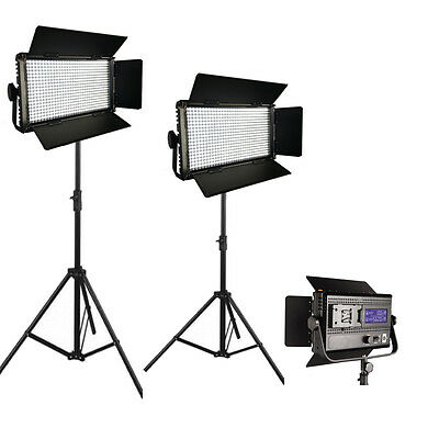 2xLED576AVL LED-Studio-Panel Licht LCD Touch Screen dimmbare Frühjahr stehen