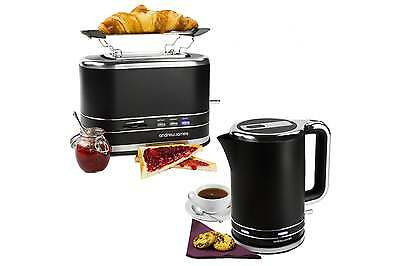 Andrew James Cordless Rapid Boil Kettle + 2 Slice Toaster Set With Warming Rack