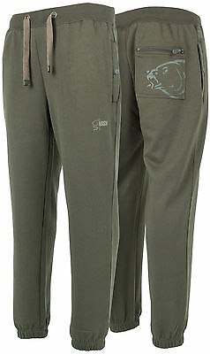 Nash Carp Fishing Carpy Green Tracksuit Bottoms Joggers Bivvy Trousers M - Xxxl
