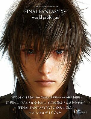 """'NEW' Final Fantasy XV 15 Official Guide Book """"World Prologue"""" / Japan PS4"""