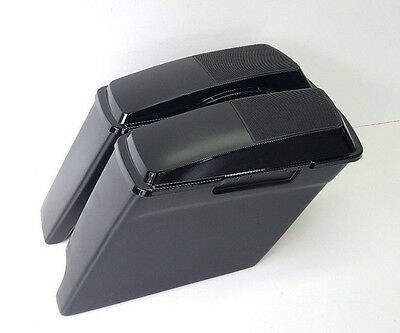 """6x9 Speaker Lids #2 Stretched 4"""" Saddlebags Right Exhaust Harley Davidson FLH"""