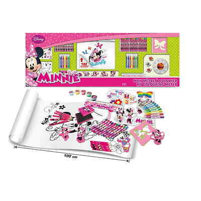 DISNEY Minnie Mouse My Colouring Meter with 100pc Creative Accessories Kit (CDIM
