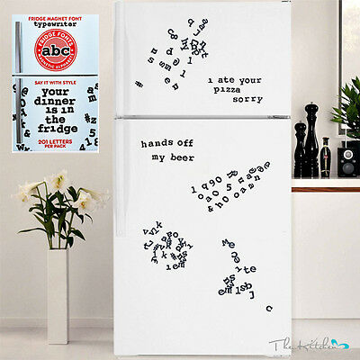 Fridge Magnets Font Magnetic Alphabet Letters Fonts 201 Characters Gift Idea