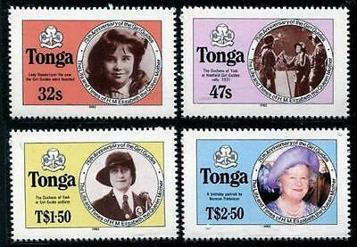 Tonga 1985  Life and Times of Queen Mother perforated set MNH sg915b