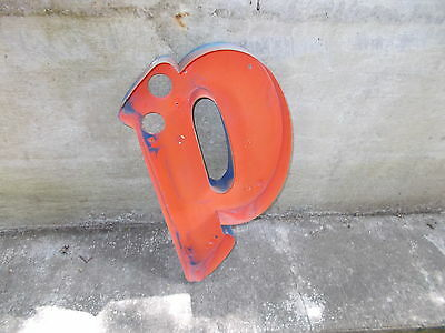 """Great  Vintage Letter """"p"""" Wall Decor ! Large 21x11""""  !"""