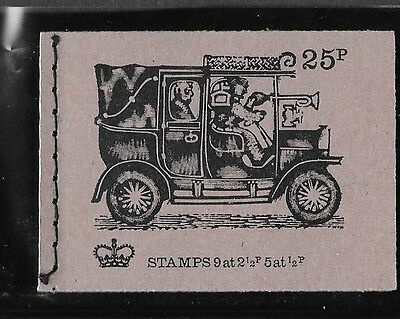 1972 Great Britain Stitched Booklet Veteran Transport Series Dh48