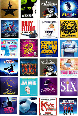 Broadway Musical Theatre Posters Theme Edible Wafer Paper Cake Toppers x 24