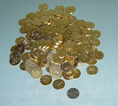 200 Brand New Golden Half Dollar Size Slot Machine Tokens -  30Mm