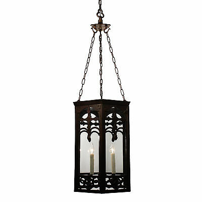 Large Antique Gothic Revival Iron Lantern, Early 1900's, NC2539