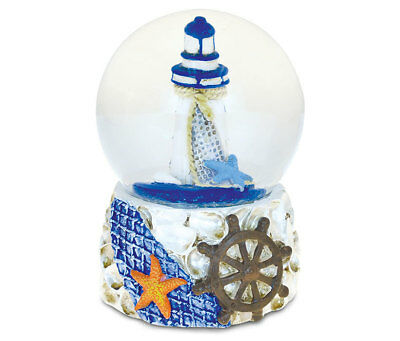PuzzledShells With Lighthouse (65mm) Nautical Snow Globes  -