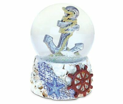 PuzzledShells With Anchor (65mm) Nautical Snow Globes  -