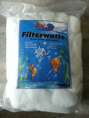 Ouate filtrante Zoobest 1000g Filterwatte