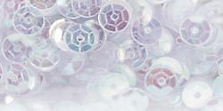 Cupped Sequins 5mm 800/Pkg White Iridescent 1004317