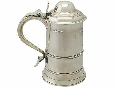Sterling Silver Pint and a Half Tankard - Antique George III