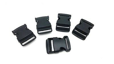 10x Black Plastic Buckles 1 Inch 25mm for Backpack Straps Craft Wholesale Price