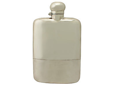 Antique George V, Sterling Silver Hip Flask