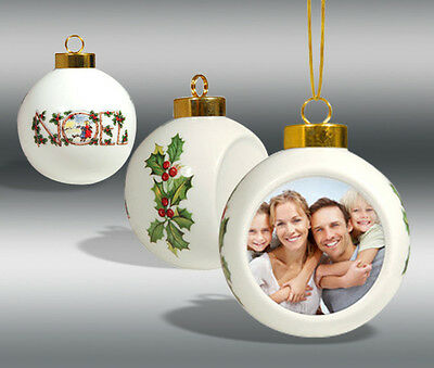 Dye-Sublimation  Ceramic Christmas Ball Ornament