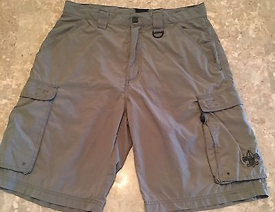 Boy Scouts of America Cargo Shorts Green Official Uniform BSA -Nylon Adult Small