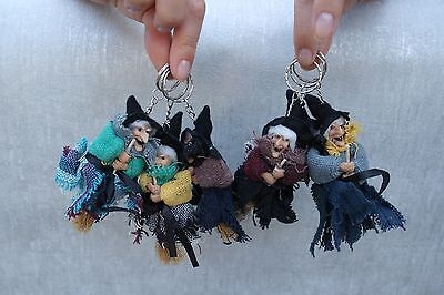 Mini Cute Witch Doll Perfect Gift Decoration Keyring Chain Free Shipping Collect