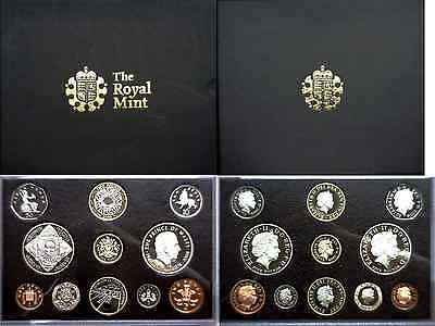 2008 Great Britain 11 Coin Proof Set In Presentation Box OGP W/COA