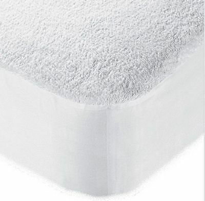 WATERPROOF TERRY TOWEL FITTED MATTRESS PROTECTOR-Sheet, Bed Cover All Sizes