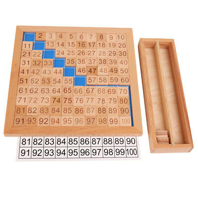 Montessori Teaching Material 1-100 Consecutive Numbers Boys Girls Wooden Toy