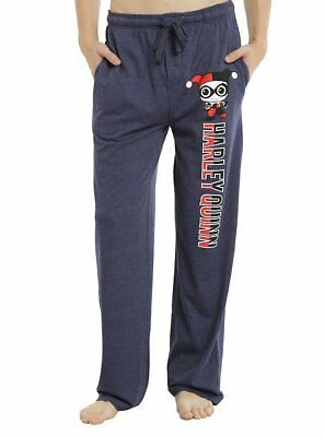 Mens Womens NEW DC Comic Harley Quinn Blue Pajama Lounge Pants XS S M L XL 2XL