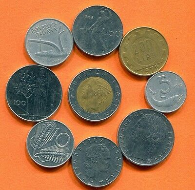 ITALY Coin. Italian Coins Collection, Mixed Lot  L10425