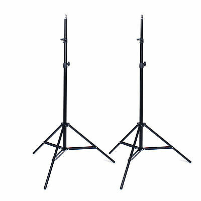 2X Photo Studio 2m 7ft Light Stand Adjustable Tripod for Softbox Flash Lighting