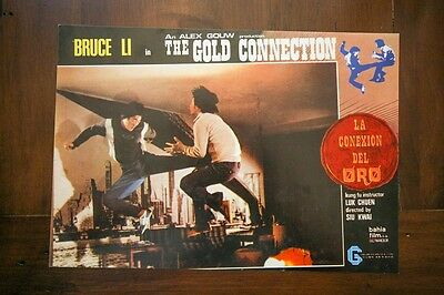 THE GOLD CONNECTION Original KUNG FU MARTAL ARTS Lobby Card Set BRUCE LI