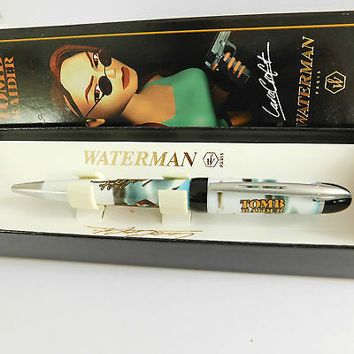WATERMAN PARIS Tomb Raider Lara Croft Ballpoint pen in original Box France