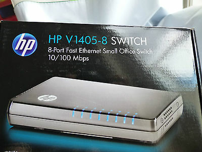 HP E 1405-8G v2 Switch HP J9794A 1405 8 Port Plug-and-Play Unmanaged WiFi 10/100