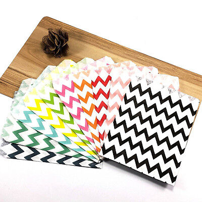 Multicolor 25Pcs Candy 4 Styles Sweet Cake Paper Bags Wedding Party Supplies