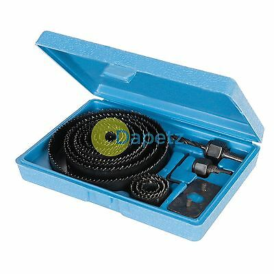 16 Pieces Holesaw Kit Set Hole Saws For Plaster Board Wood Fiber Glass