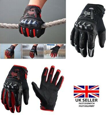 Fox Bomber Leather Motorcycle MTB Gloves Outdoor Enduro Cycling Riding 2 Colours