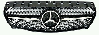 Mercedes Benz Diamond Black AMG style grill inc star for A-Class 2013-2015 W176