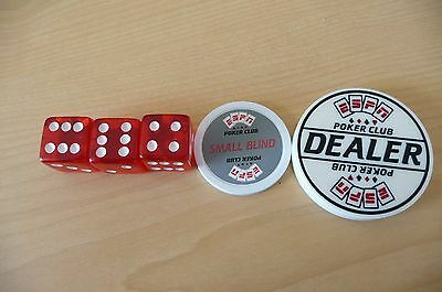 ESPN Engraved Dealer Button and dice